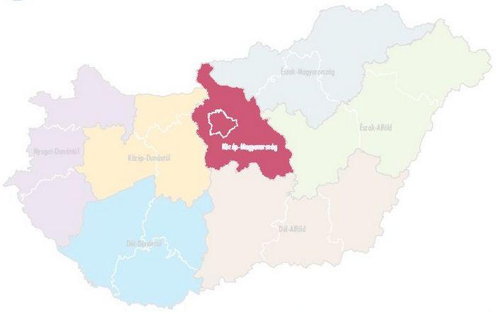magyarország térkép nagykőrös Közép Magyarország statisztikai régió városai és települései magyarország térkép nagykőrös