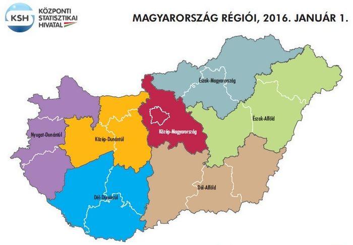 Regiok Magyarorszagon Nuts2